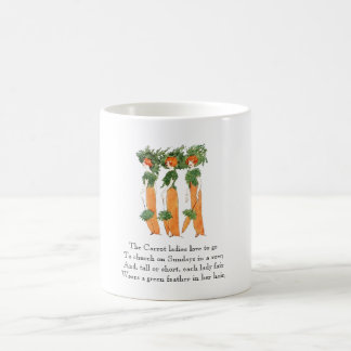 Vintage Poem Carrot Vegetable Cute Ladies Mug