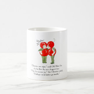 Vintage Poem Cherries Cute Kids Fruit Drawing Coffee Mug