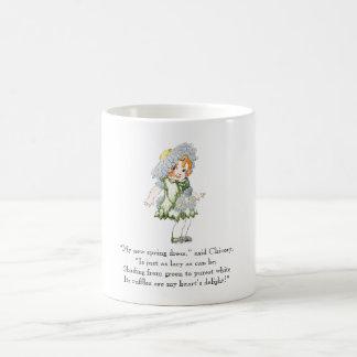 Vintage Poem Chicory Rhyme Cute Little Girl Coffee Mug
