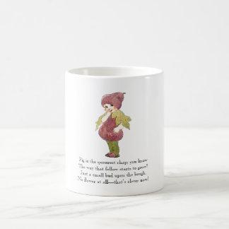 Vintage Poem Fruit Fig Cute Kid Funny Coffee Mug