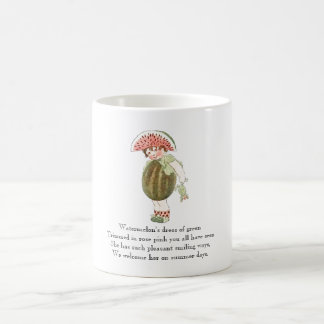 Vintage Poem Fruit Rhyme Watermelon Cute Kid Mug