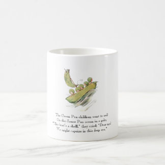 Vintage Poem Green Pea Cute Kids Vegetables Coffee Mug