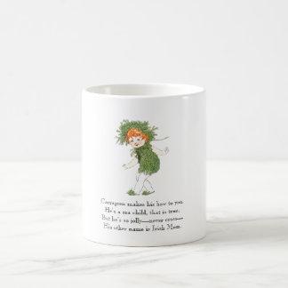 Vintage Poem Irish Moss Seaweed Rhyme Funny Kid Coffee Mug