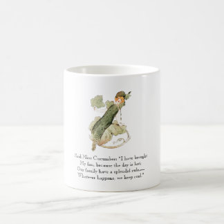 Vintage Poem Miss Cucumber Rhyme Cute Vegetable Coffee Mug