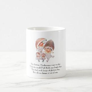 Vintage Poem Mushrooms Puffball Cute Kids Mug