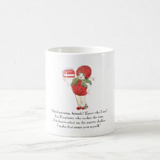 Vintage Poem Raspberry Cute Kids Red Fruit Drawing Coffee Mug