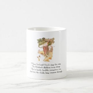 Vintage Poem Rhubarb Vegetable Rhyme Cute Kid Mug