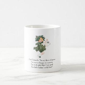 Vintage Poem Spinach Vegetable Cute Litte Girl Mug