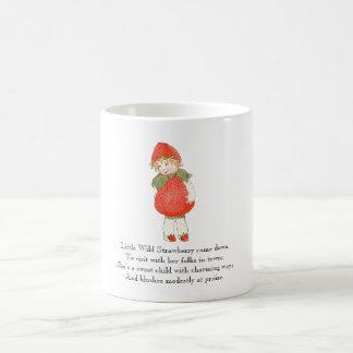 Vintage Poem Strawberry Cute Fruit Little Girl Coffee Mug