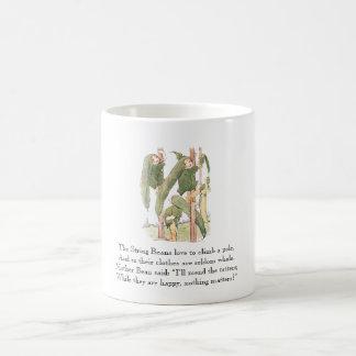 Vintage Poem String Bean Cute Kids Vegetable Green Coffee Mug