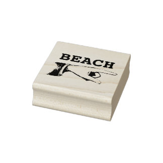 Vintage Pointing Finger Custom Text Rubber Stamp