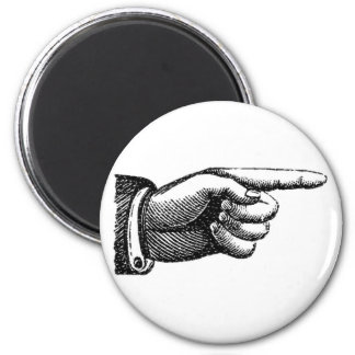 vintage pointing finger magnet, housewarming magnet