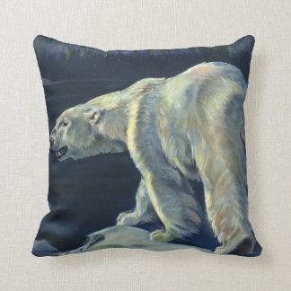 Vintage Polar Bear, Arctic Marine Life Animals Cushion