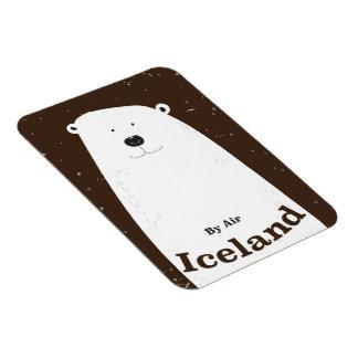 Vintage Polar Bear Iceland travel poster Magnet