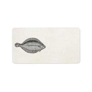 Vintage Pole Flounder Fish Personalized Template Address Label