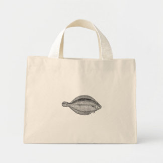 Vintage Pole Flounder Fish Personalized Template Tote Bags