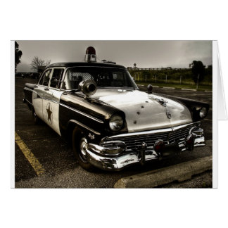 Vintage Police Car Card