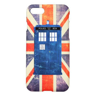 Vintage police phone box Union Jack flag iPhone 7 Case