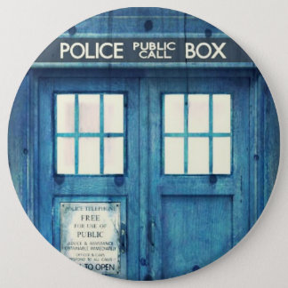 Vintage Police phone Public Call Box 6 Cm Round Badge
