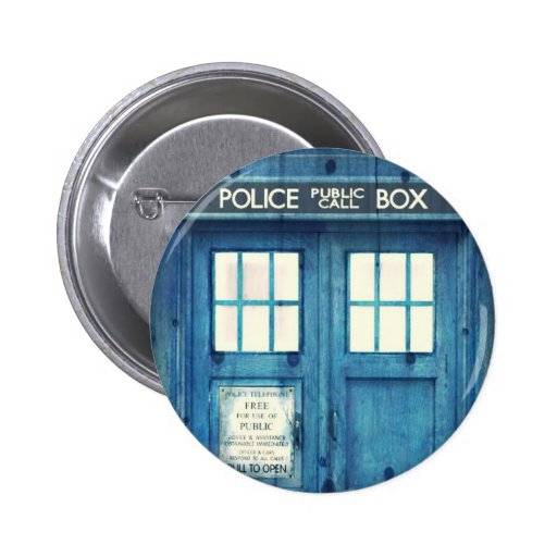 Vintage Police phone Public Call Box Pinback Buttons
