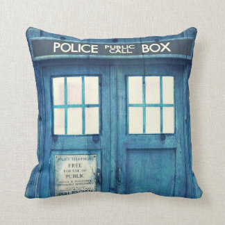 Vintage Police phone Public Call Box Cushion