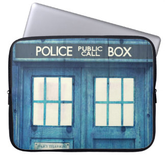 Vintage Police phone Public Call Box Laptop Sleeve