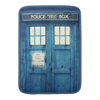 Vintage Police phone Public Call Box MacBook Sleeves
