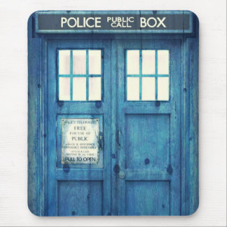 Vintage Police phone Public Call Box Mouse Pad