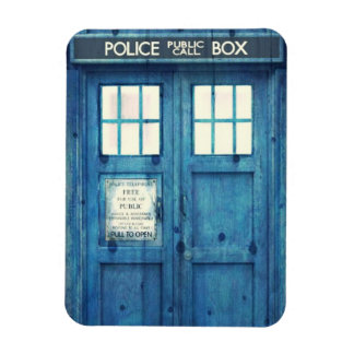 Vintage Police phone Public Call Box Rectangular Photo Magnet