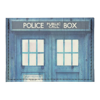 Vintage Police phone Public Call Box Tyvek® Card Case Wallet
