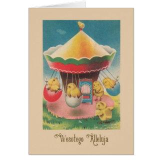 Vintage Polish Wesołego Alleluja Easter Card