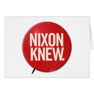 Vintage Political Richard Nixon Button Nixon Knew Card