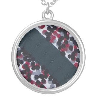 Vintage Polka Dot and Stripe Necklace