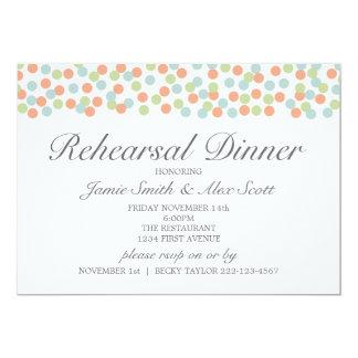 Vintage Polka Dot Rehearsal Dinner Invitation