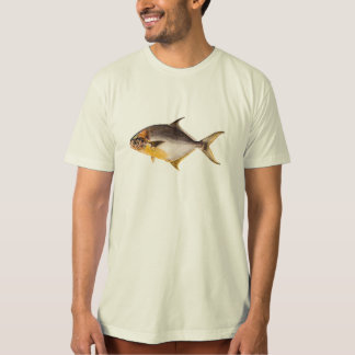 Vintage Pompano Fish - Game Fishes Template Blank T-Shirt