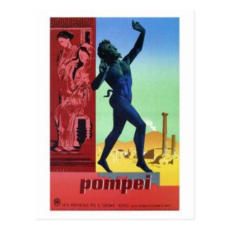 Vintage Pompeii Italian travel poster Postcard