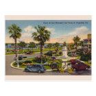 Vintage Ponce de Leon Monument Florida Postcard