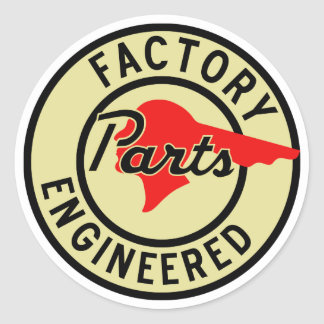 Vintage Pontiac Factory parts sign Round Sticker