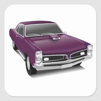 vintage pontiac gto customize me sticker