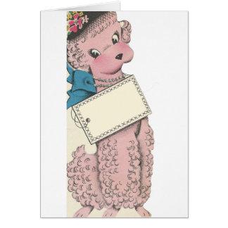 Vintage Poodle Card