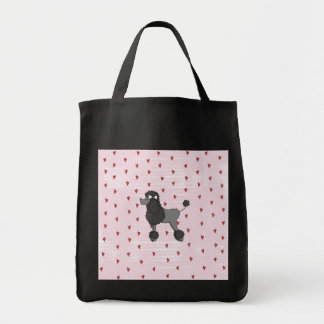 Vintage Poodle Tote Canvas Bags
