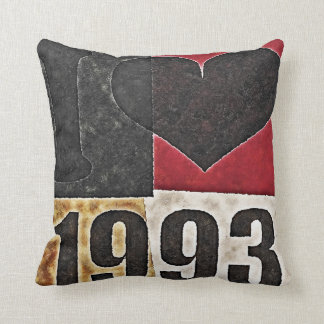 Vintage Pop Art - I heart 1993 - Pillow