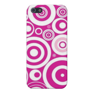 Vintage Pop Art Pink Swirls Pern i Case For The iPhone 5