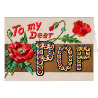 Vintage Pop Father's Day Greeting Card
