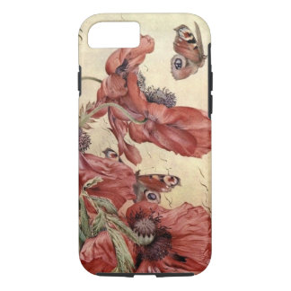 Vintage Poppies and Butterflies iPhone 7 Case