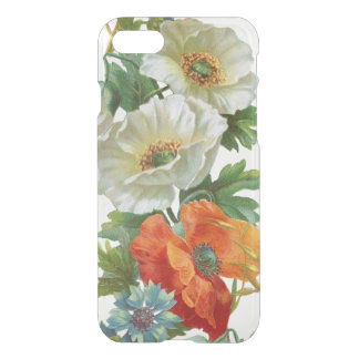 Vintage Poppies and Cornflowers Clear iPhone Case