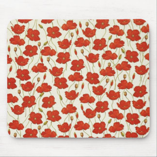 Vintage Poppies Mouse Pad