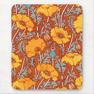 Vintage Poppies ~ Mousepad