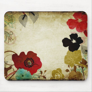 Vintage poppies Mousepad