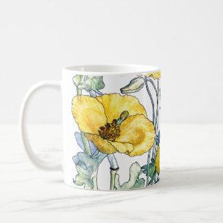 Vintage Poppies Wildflower Flowers Mug